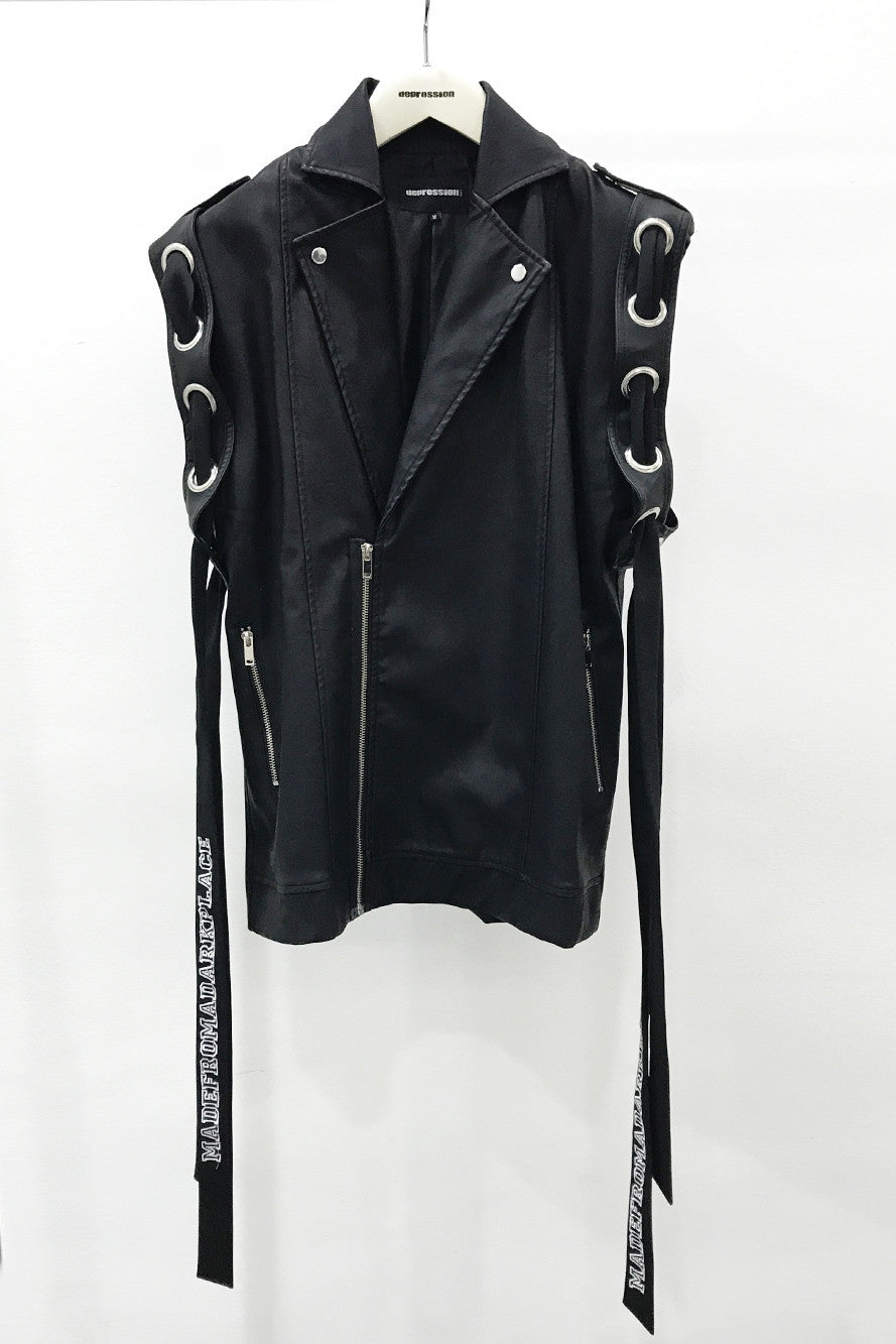 RING LEADER BIKER JACKET SLEEVELESS