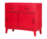 [PreOrder] PEMBA Chest with 2 Doors/2 Drawers (84x39x79cm, Red) 6056H