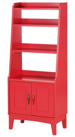 [PreOrder] PEMBA Bookcase (56.5x29.5x139cm, Red) 6048H