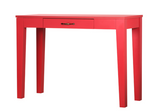 [PreOrder] PEMBA Table with 1 Drawer (100x40x72cm, Red) 6044H