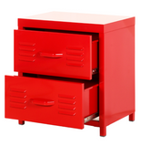 Steel 2 Drawer (Red)