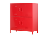 Steel Cabinet 4 doors (Red)