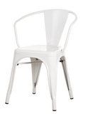 [In Store] Vintage Steel Chair(White)