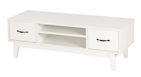 PEMBA TV Bench (118x39x40cm, White) 6042H