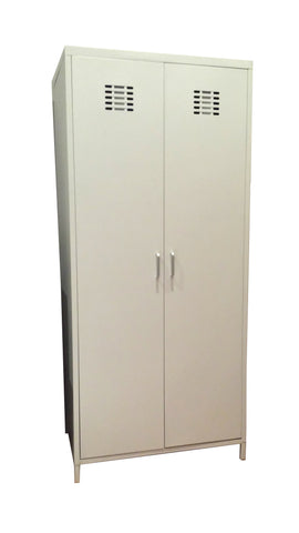 Steel Cabinet Wardrobe (White)