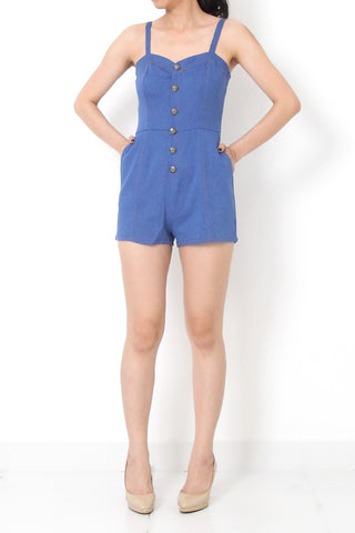 MOD Denim Romper Light Blue