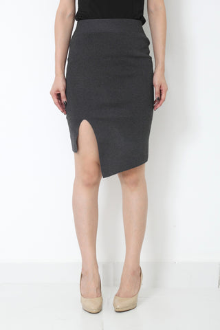 RILLA Asymmetrical Skirt Grey