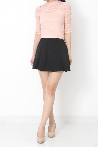 FOSETTA Lace Top Soft Pink