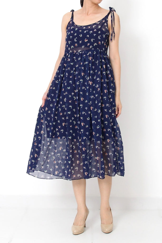 BECKA Sailor Printed Maxi Dress