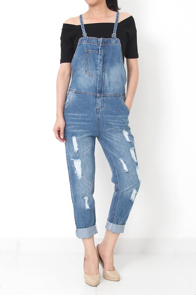 MADEWELL Denim Ripped Overall - M