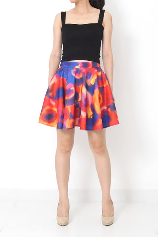 MARLON Abstract Print Skirt - XS S