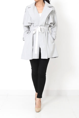 MAYSON Trench Coat Icy Gray