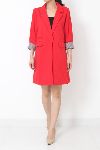 ORENDA Long Coat Red