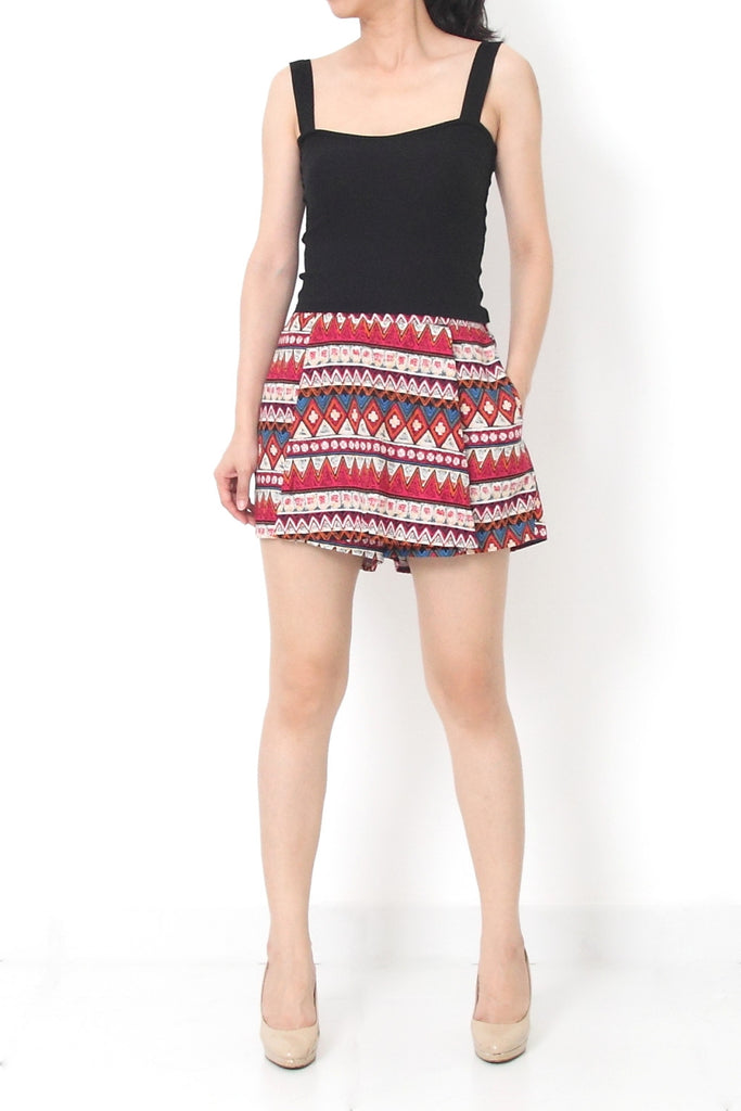 SONIA Tribal Skort Red - S M