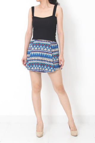 SONIA Tribal Skort Blue - L