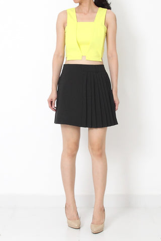 CHRISTIE Tailored Crop Top Yellow
