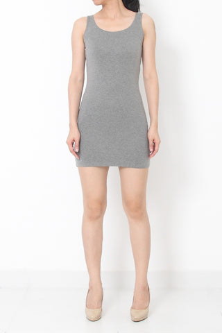 Lēa Basic Singlet Top Dress Grey