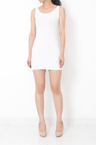 Lēa Basic Must Have Singlet Dress White