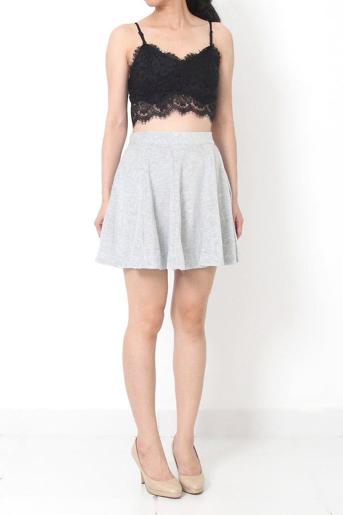 LUDOVIC Velour Skirt - M