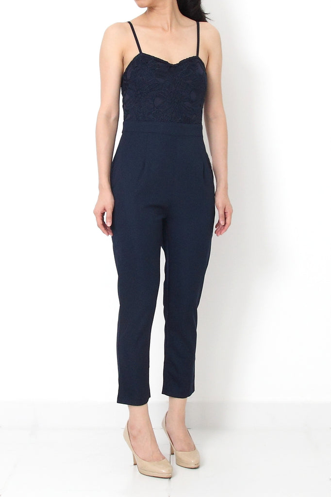 ADALENE Jumpsuit Navy Blue - S
