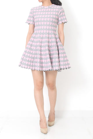 ALICHA Love Fit and Flare Dress Pink - M