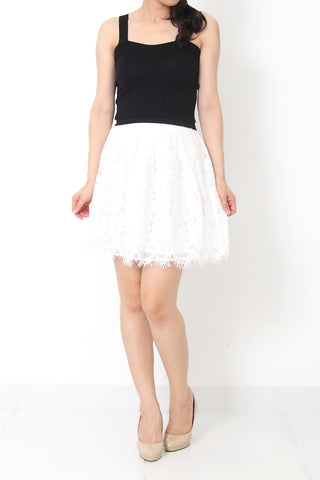 MILA Lace Skirt White - M