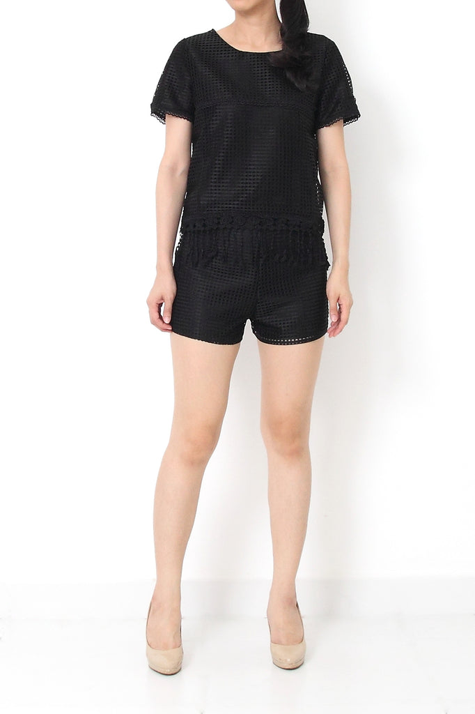 FOWLER Eyelet Set Black - S M