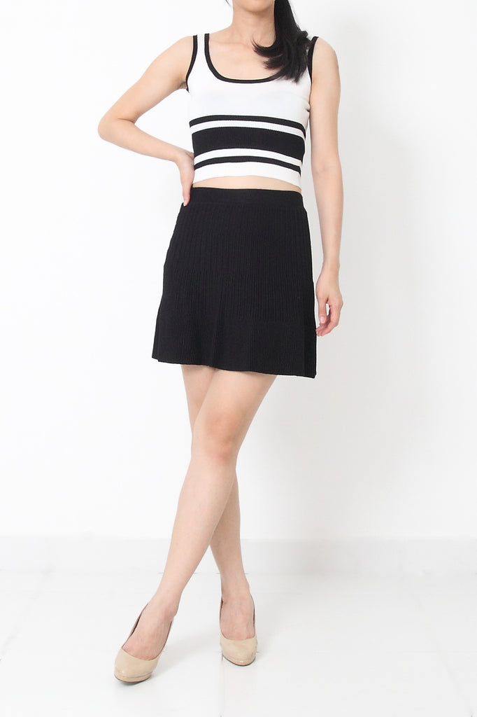 TOREY Knit Skirt Black