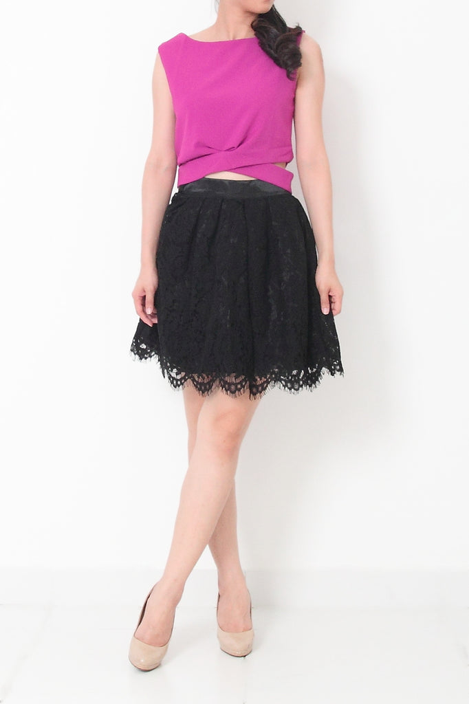 MILA Lace Skirt Black - M