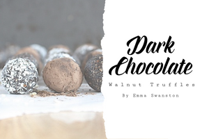 Dark Chocolate, Walnut Truffles