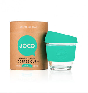 Reusable Glass Cup Small 8 Oz - Mint 236ml