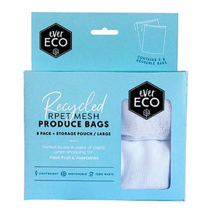 Reusable Produce Bags Rpet Mesh 8 Pack with Storage Pouch