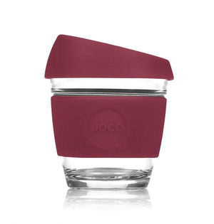 Reusable Glass Cup  - Ruby Wine 8 oz