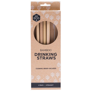 Ever Eco Bamboo Straws - 4 Pack