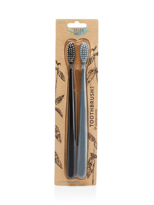 The Natural Family Co Bio Toothbrush Twin Pack