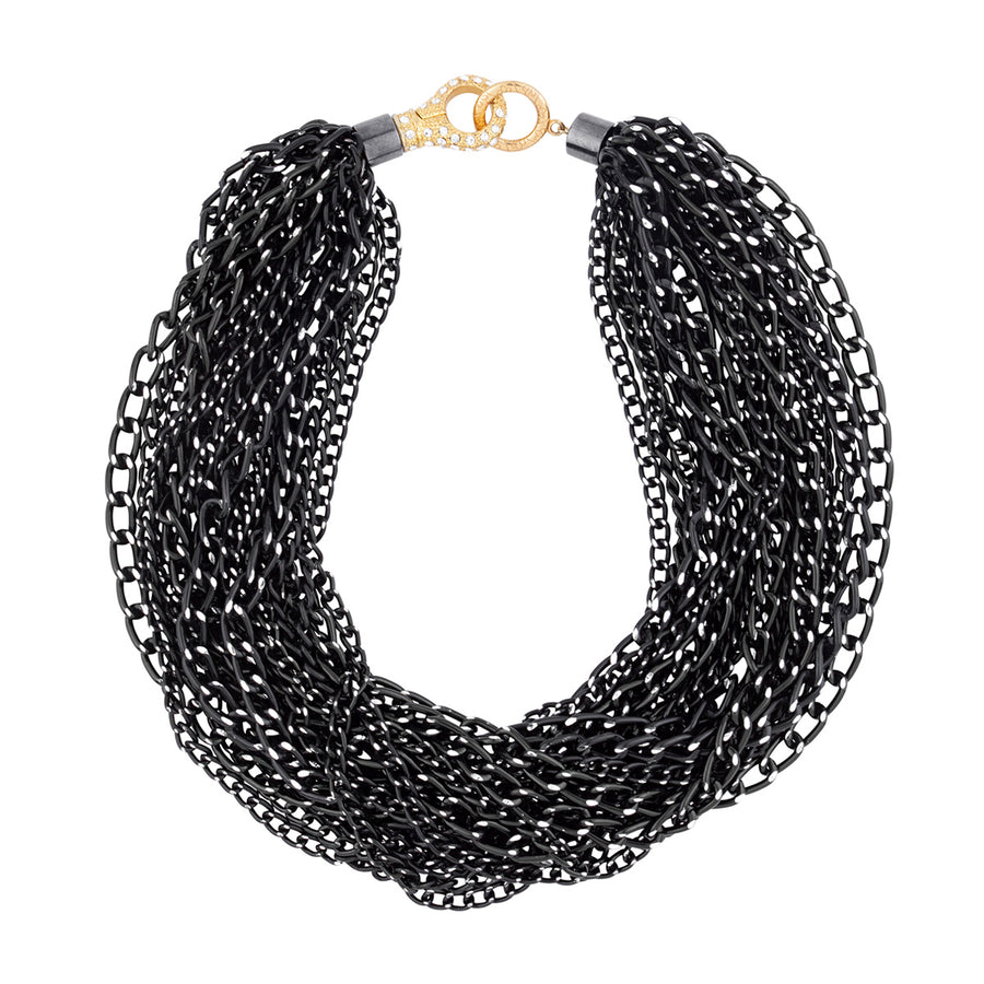 katerina psoma black chain chunky necklace