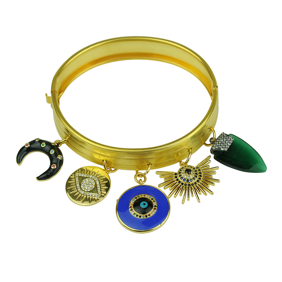 Katerina Psoma Gold Plated Bracelet With Charms