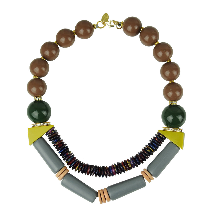 kATERINA PSOMA Acrylic Multicolor Short Necklace