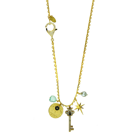 Alina Charm Chain Gold Plated Necklace