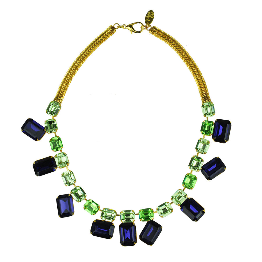 alina crystal short necklace blue katerina psoma