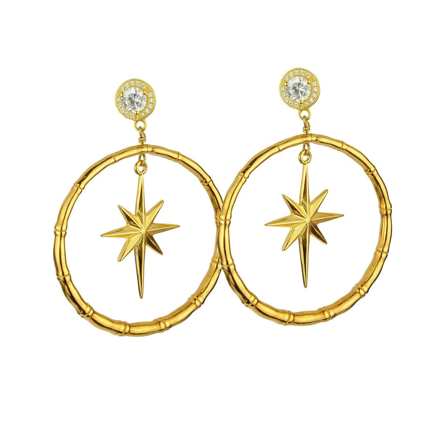 gold plated metal hoops with 925 silver studs katerina psoma