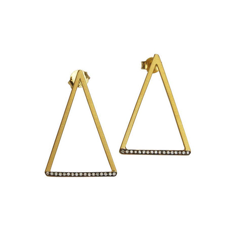 Tinos 9 kt Gold and Diamonds Earrings