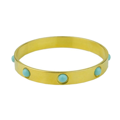 Cyclos Gold Plated Metal Cabochons Bracelet
