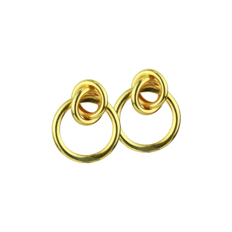 gold plated small hoops katerina psoma