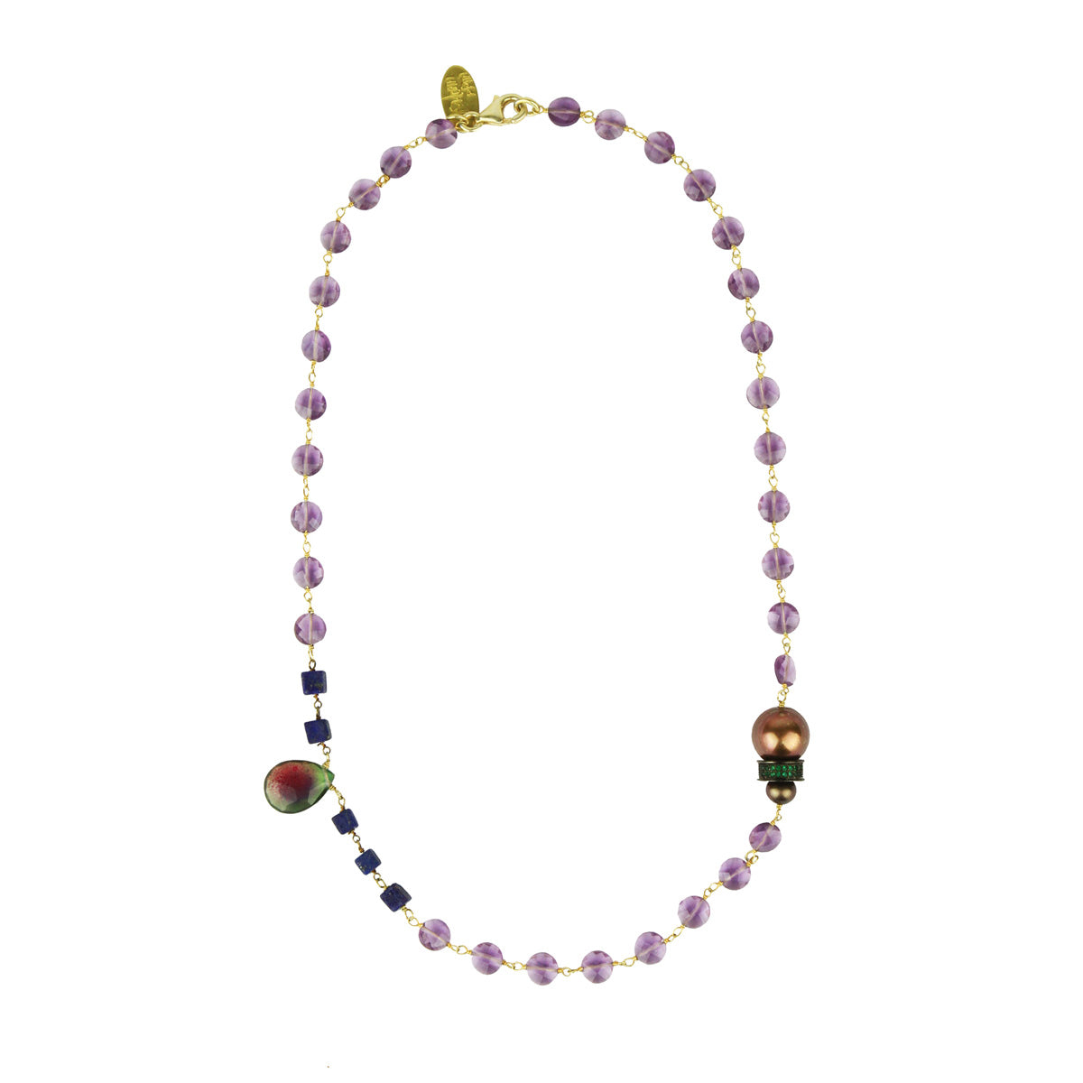 Lauren Amethyst Short Necklace