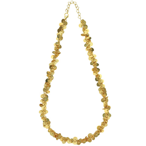 Cyclos Short Gold Plated Necklace