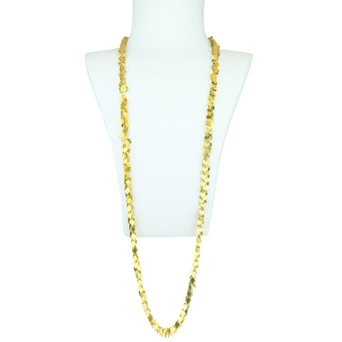 Cyclos Long Gold Plated Necklace