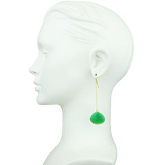 Diana Drop Green Earrings