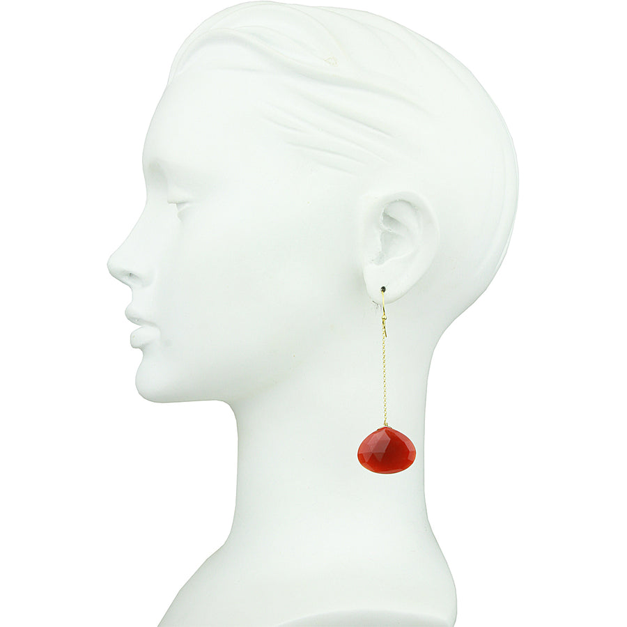 Selene Carnelian Drop Earrings