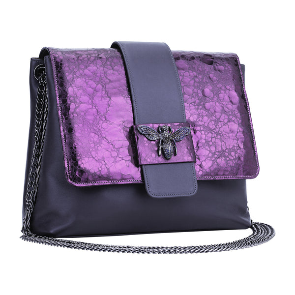 Shiny Leather Bag Violet
